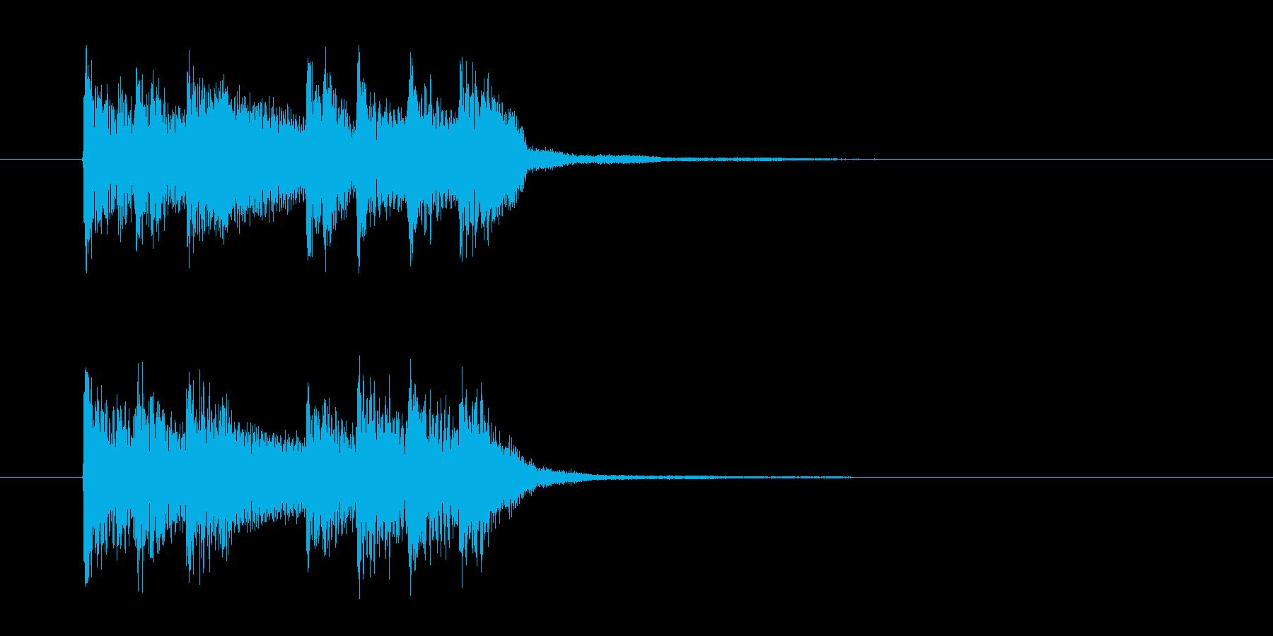 壮大で神秘的なSF感あるテクノジングルの再生済みの波形