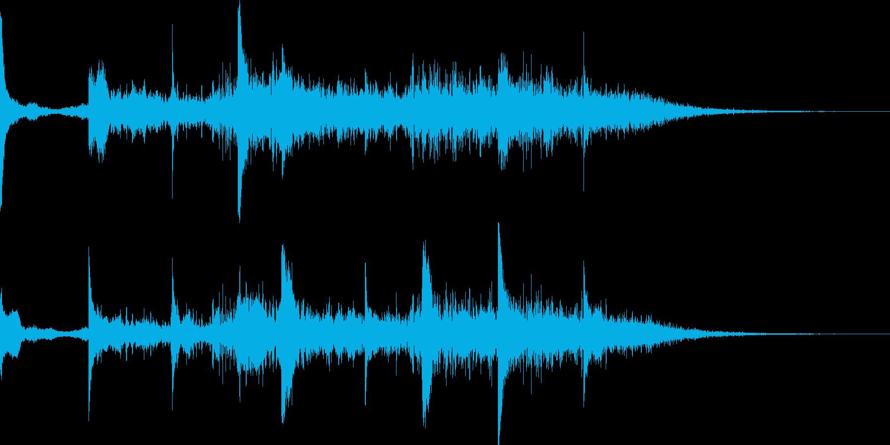 差し色 46秒 空間的なピアノの再生済みの波形