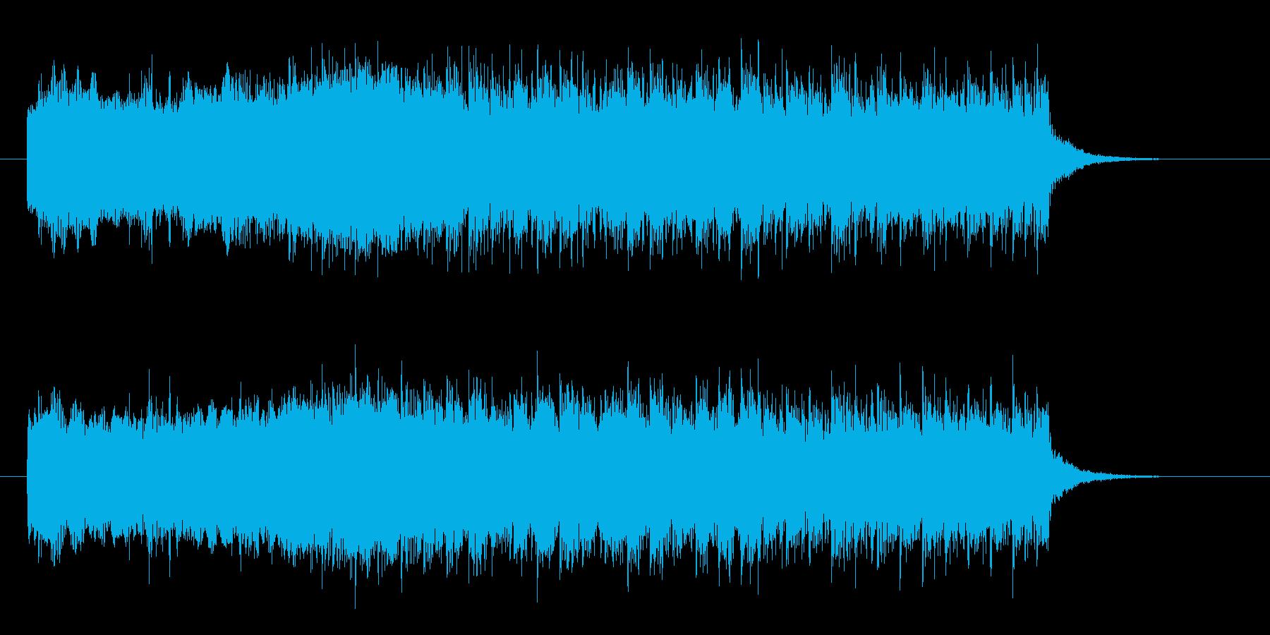 パンクロックでスピード感のエレキジングルの再生済みの波形