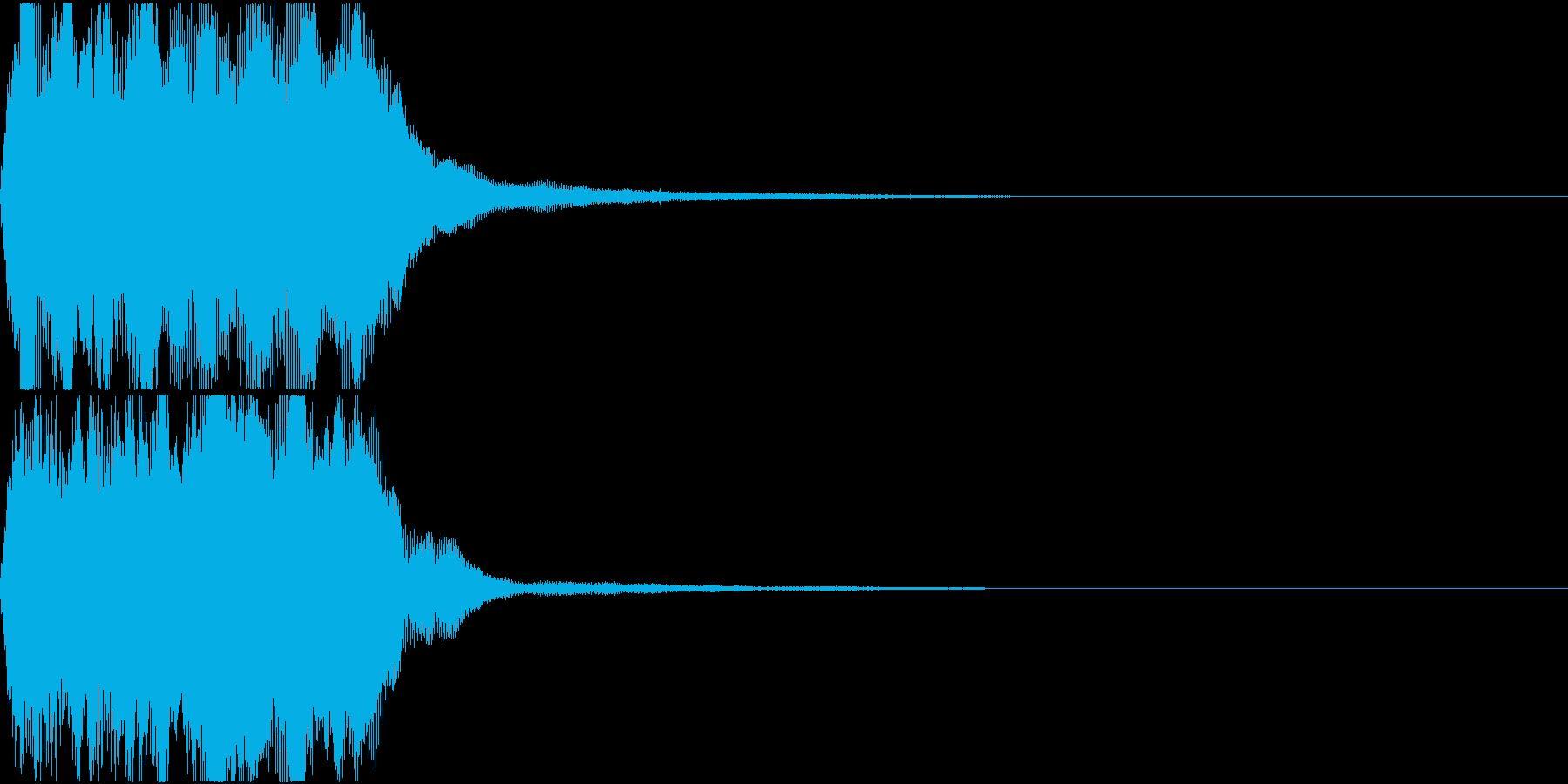ラッパ ファンファーレ 定番 21の再生済みの波形