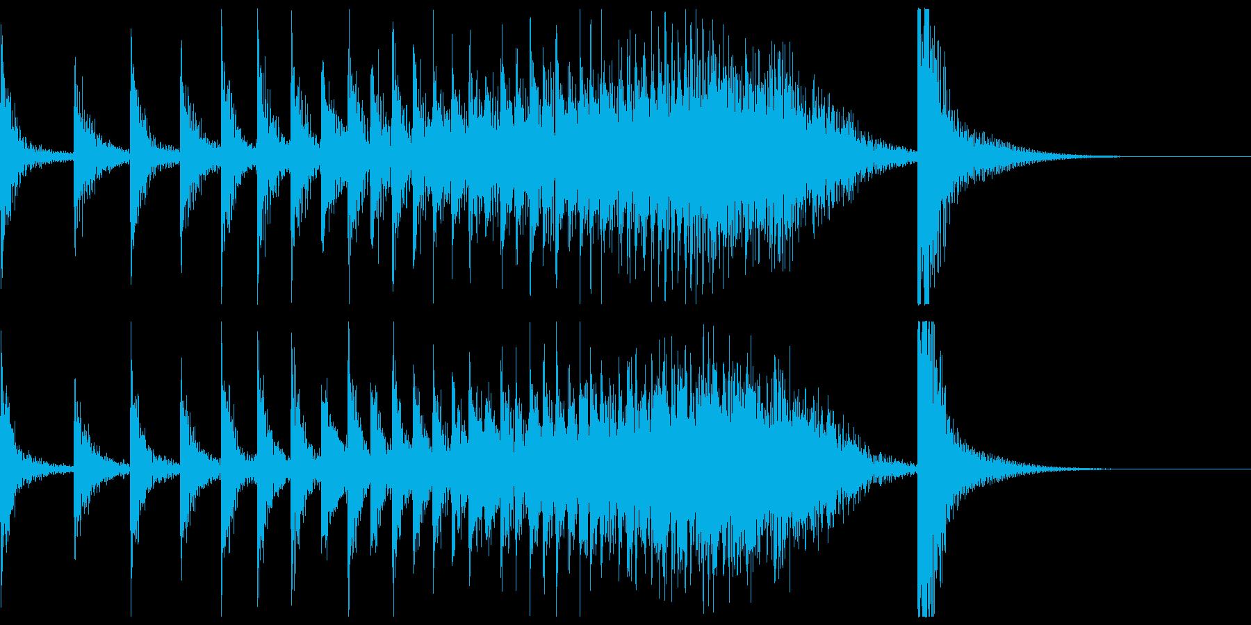 ドコドコ…ドドン!和太鼓ロール/ロングの再生済みの波形