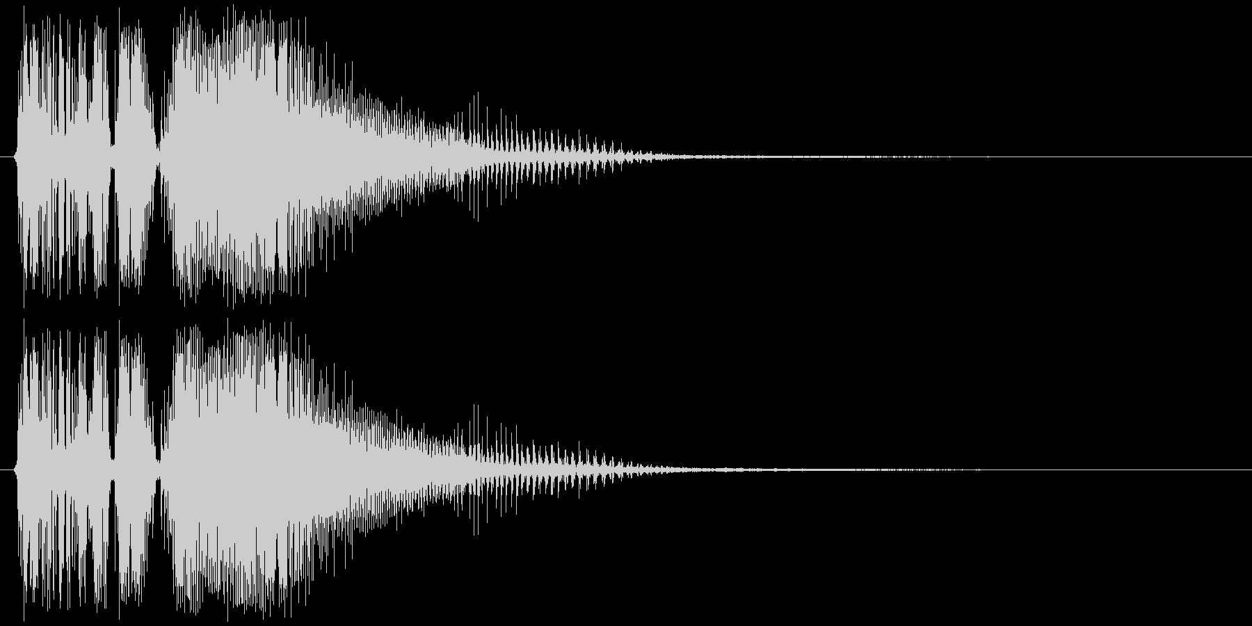バキューーン(ショット音、低め、強め)の未再生の波形