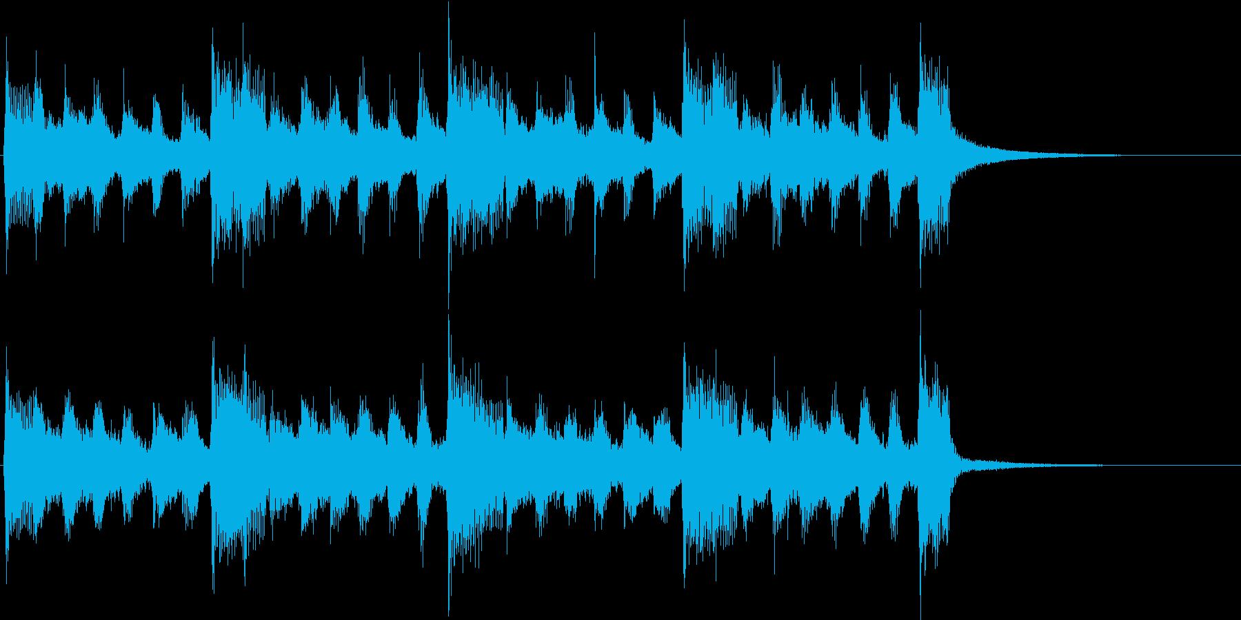 子供向けの陽気なBGM4の再生済みの波形
