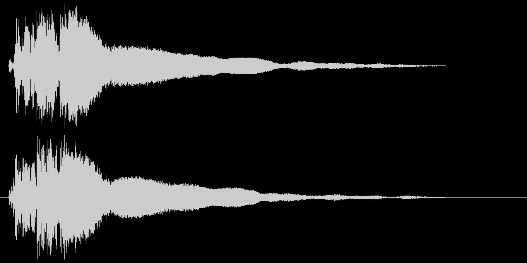 ピユーゥンという作動音の未再生の波形