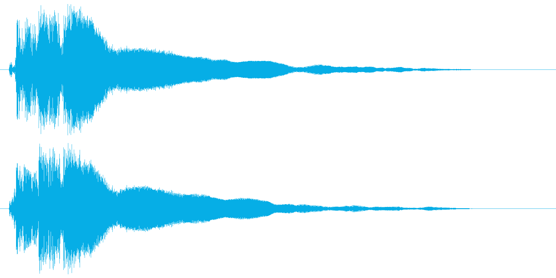 ピユーゥンという作動音の再生済みの波形