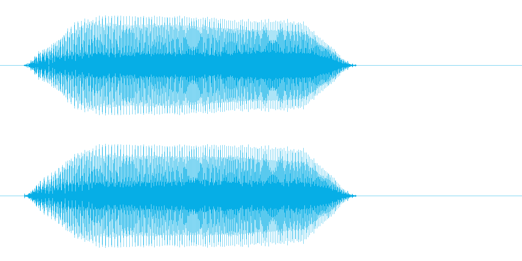 プョ(コミカルな音)の再生済みの波形