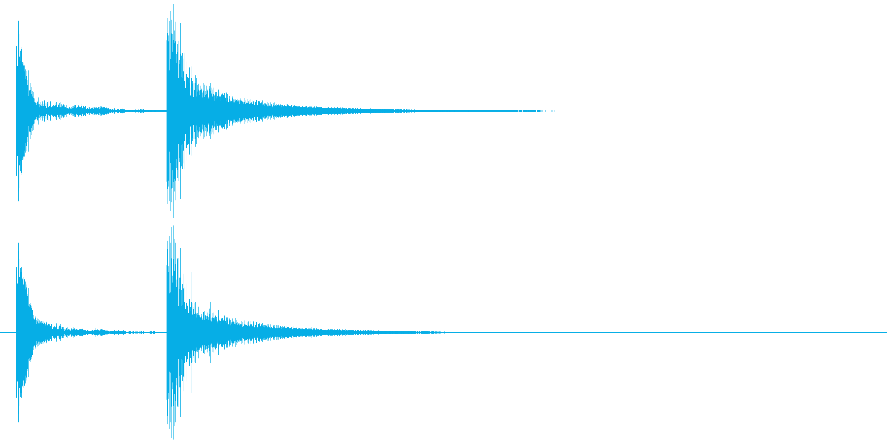 コテッ (テッの部分が金属風、コチン)の再生済みの波形