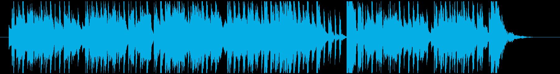 クリスマス風ベルとシンセのかわいい小曲の再生済みの波形