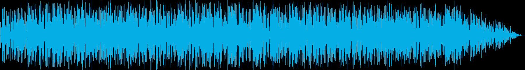 明るいテンポのあるギター音の再生済みの波形
