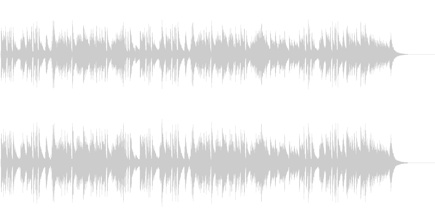 緩やかな風の落ち着いたピアノ・ソロ/BGの未再生の波形