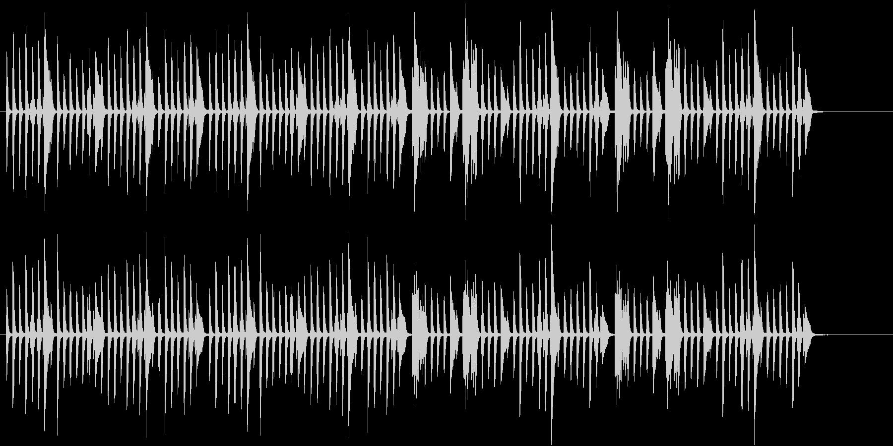 楽しく弾むBGMの未再生の波形