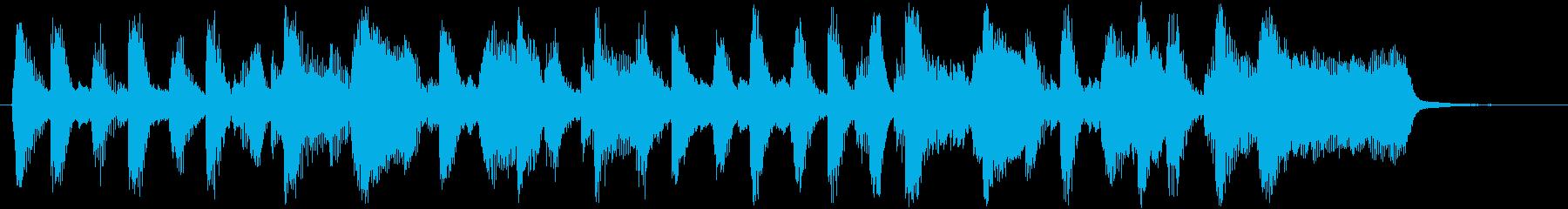 ブラス&サックスのハッピーサウンドロゴの再生済みの波形
