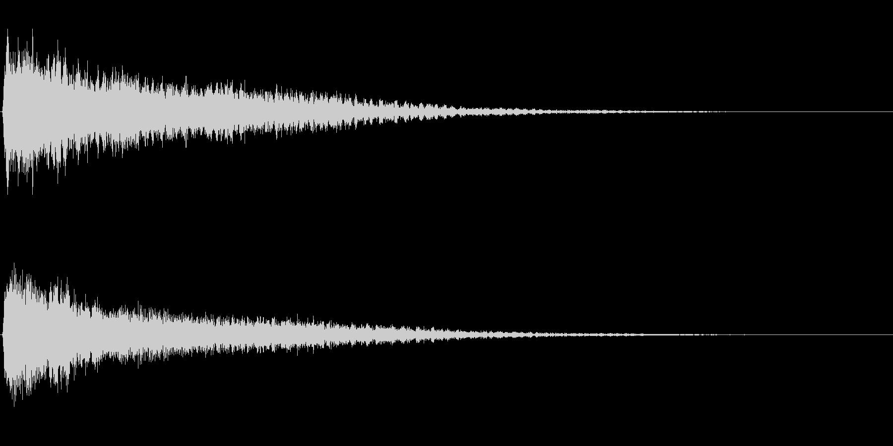 サスペンスに最適!ピアノの弦を弄ぶ音26の未再生の波形