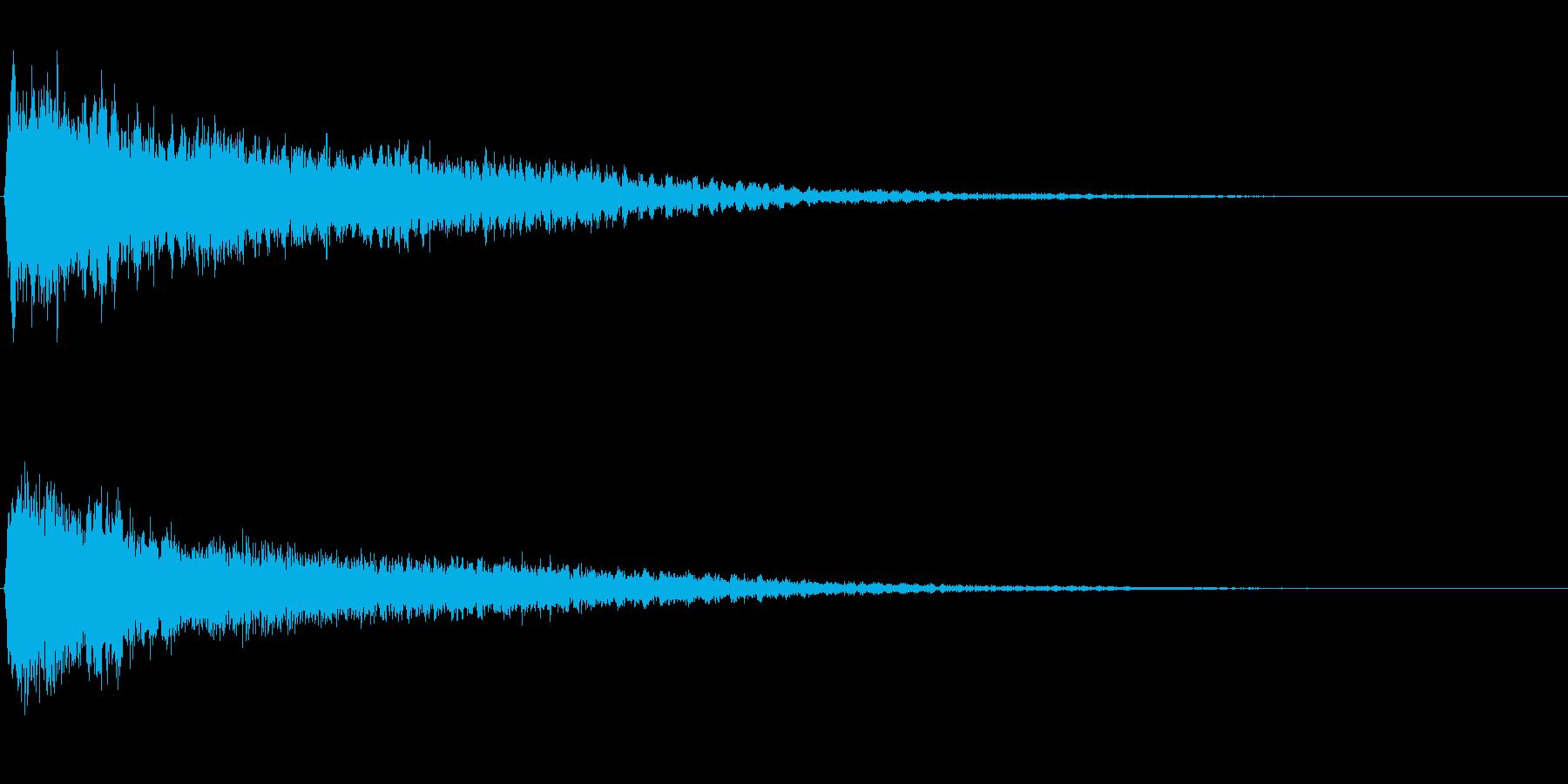 サスペンスに最適!ピアノの弦を弄ぶ音26の再生済みの波形