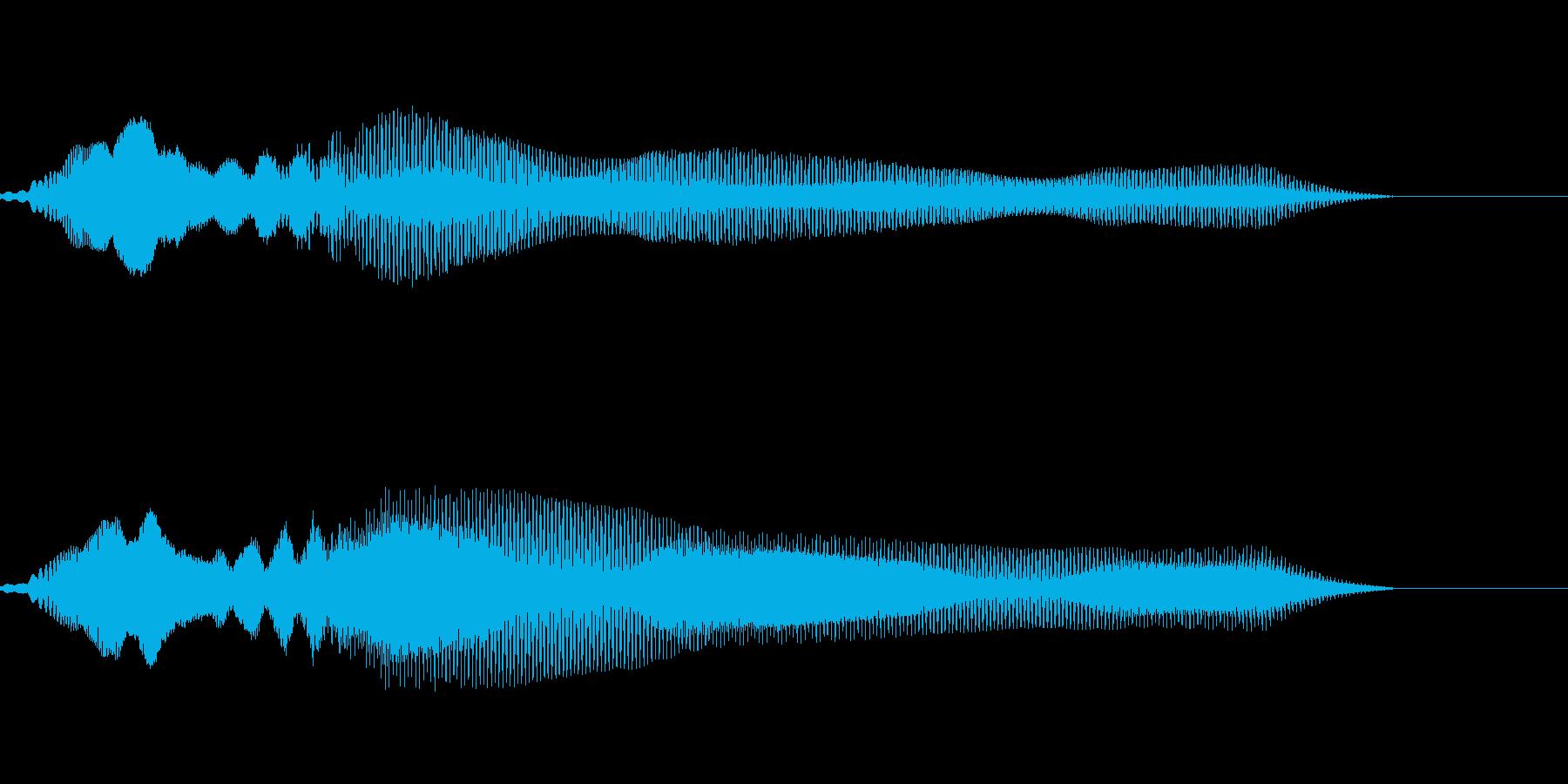 電子系 バリアを張る音の再生済みの波形