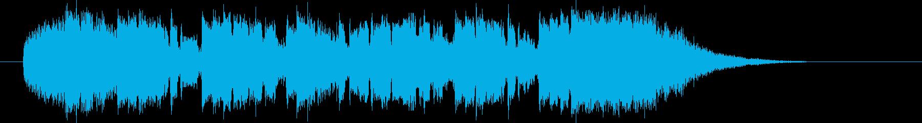 軽快なリズムとピアノによるポップスの再生済みの波形