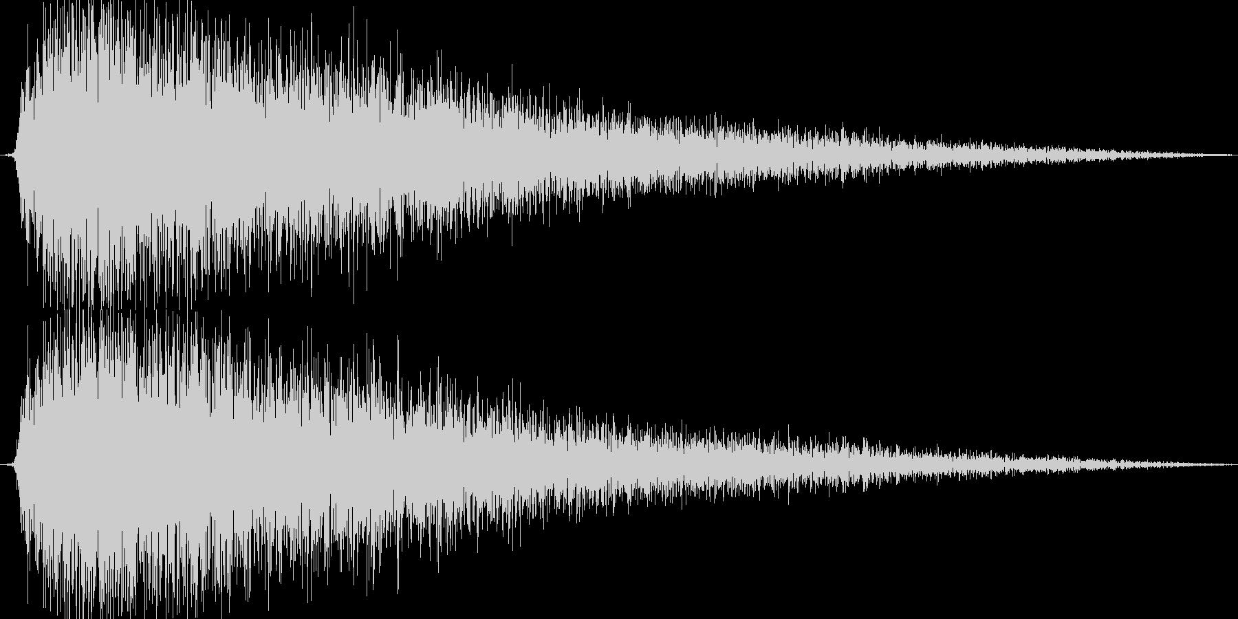 プシュー(金属系効果音)の未再生の波形