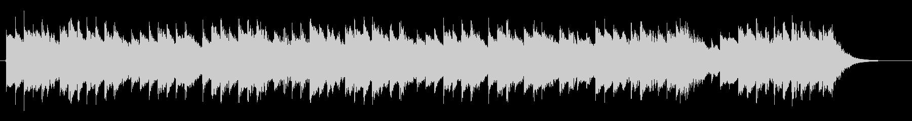 軽快なオルゴールジングル(27秒)の未再生の波形