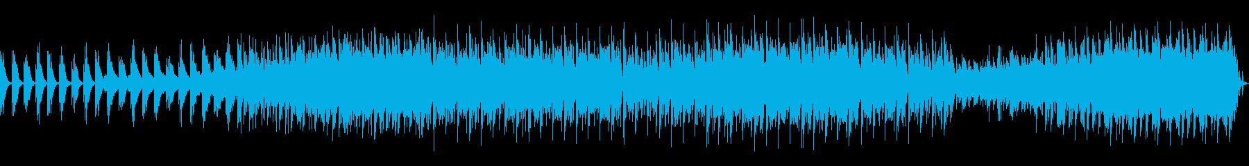 和楽器を使用した和風ヒーリング曲の再生済みの波形