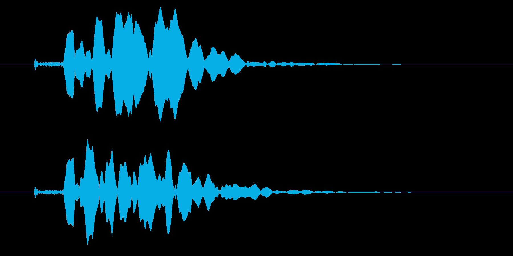 改札 ビープ音01-12(音色1 遠)の再生済みの波形
