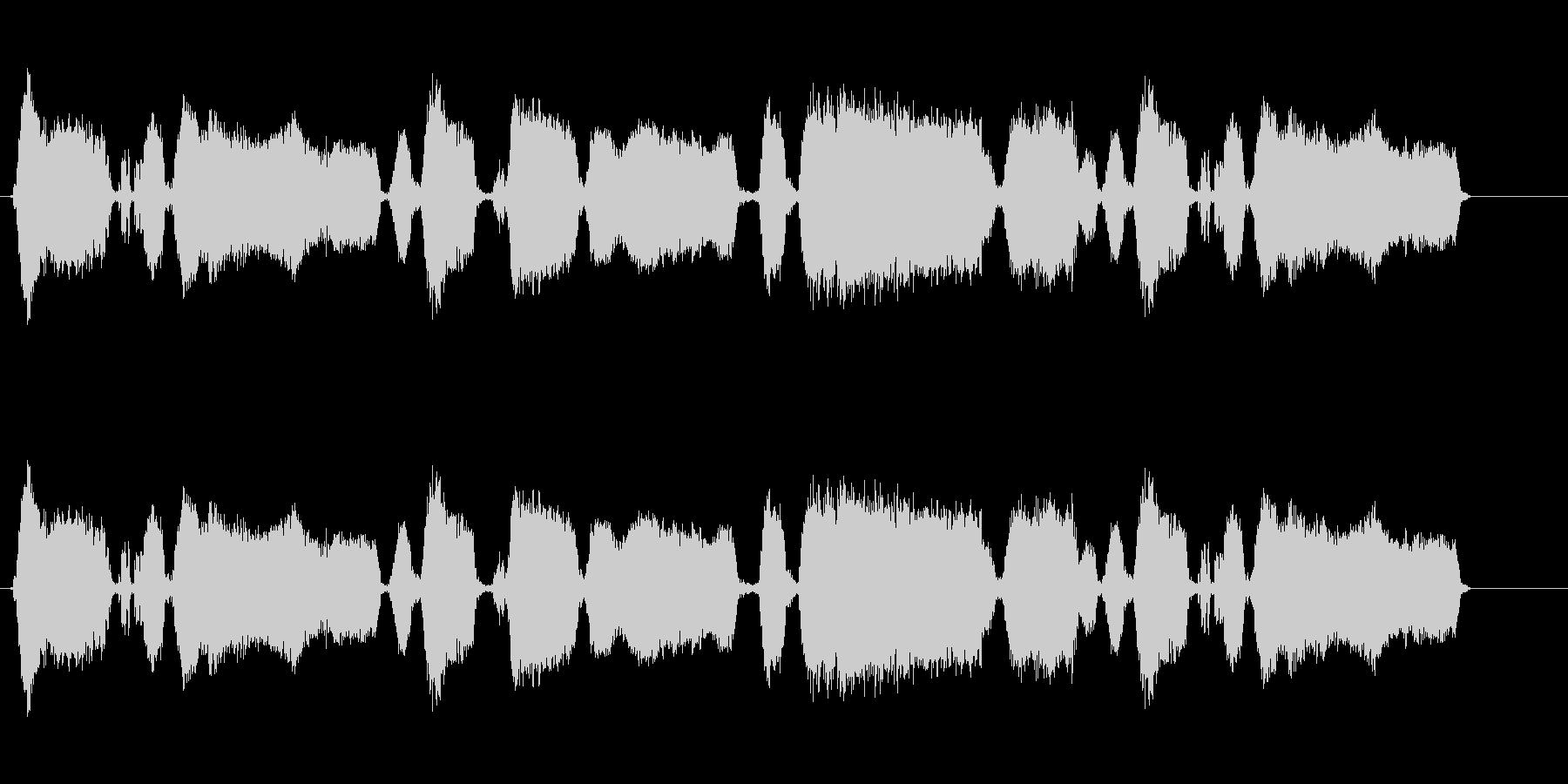 160 黒板をひっかく音2の未再生の波形