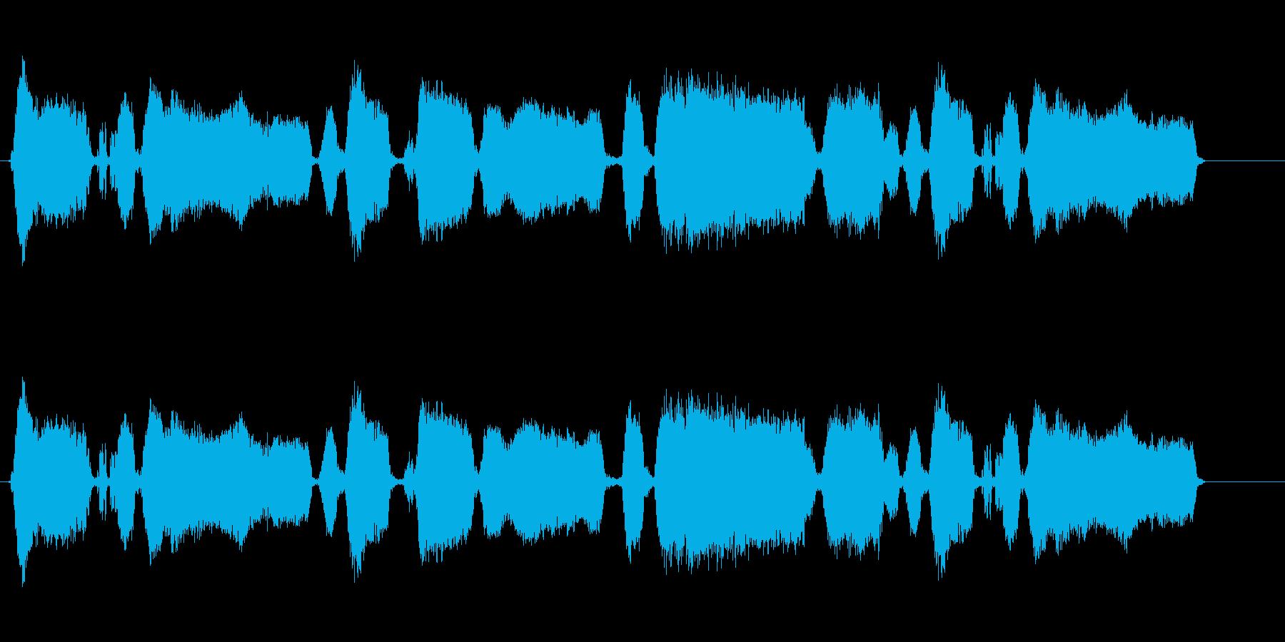 160 黒板をひっかく音2の再生済みの波形