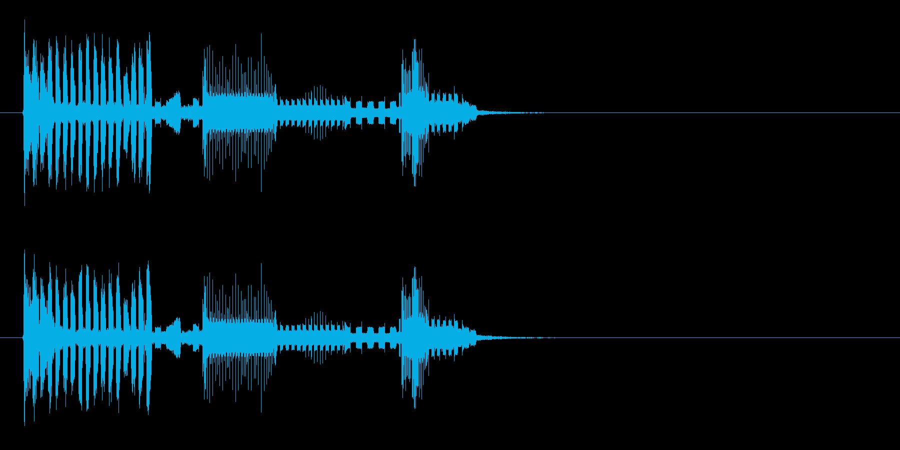 不思議な電子音が続く近未来テクノの再生済みの波形