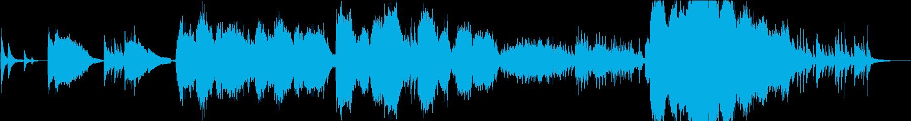 エルフ語の、幻想的なヒーリング曲の再生済みの波形
