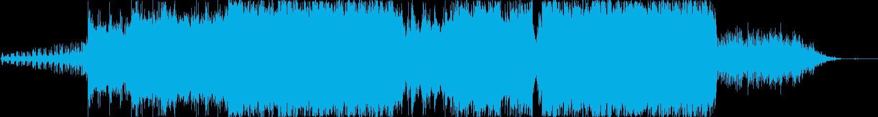 古都の中国を彷彿させる曲の再生済みの波形