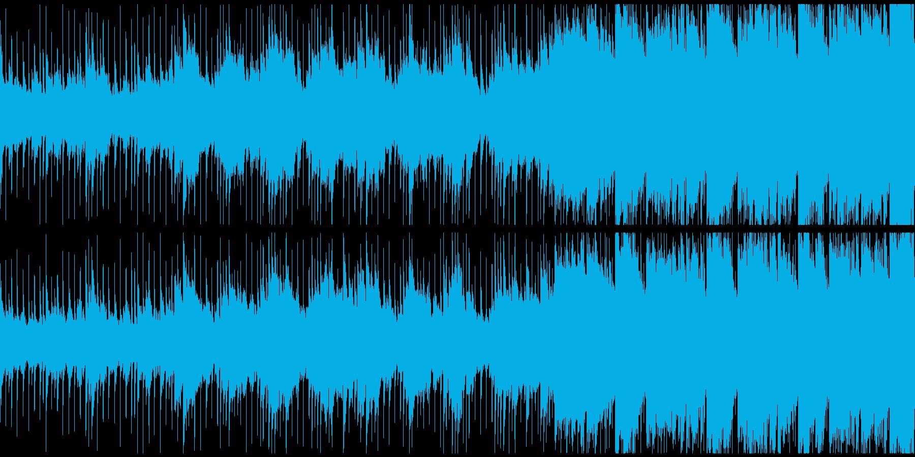 メニュー画面、企業紹介等ポップBGMの再生済みの波形