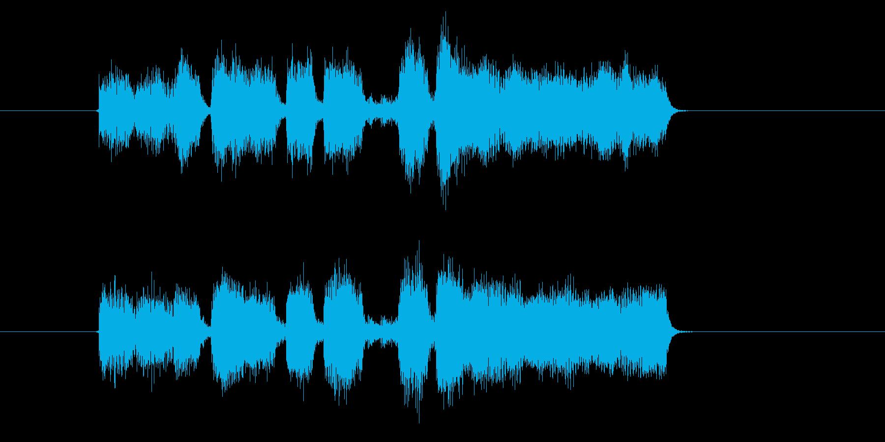 ステージやクエストをクリアしたジングル曲の再生済みの波形
