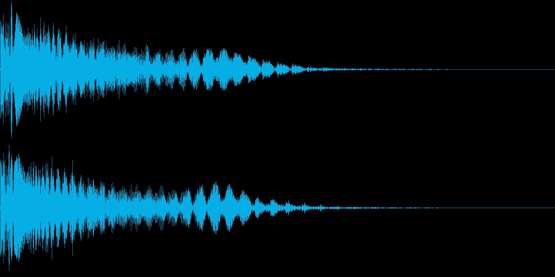 BoooooM!! レーザー銃の音の再生済みの波形