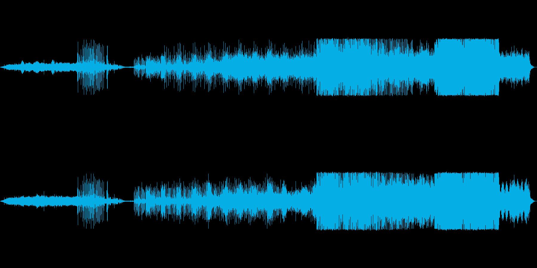幻想的で水のような美しい電子音楽の再生済みの波形