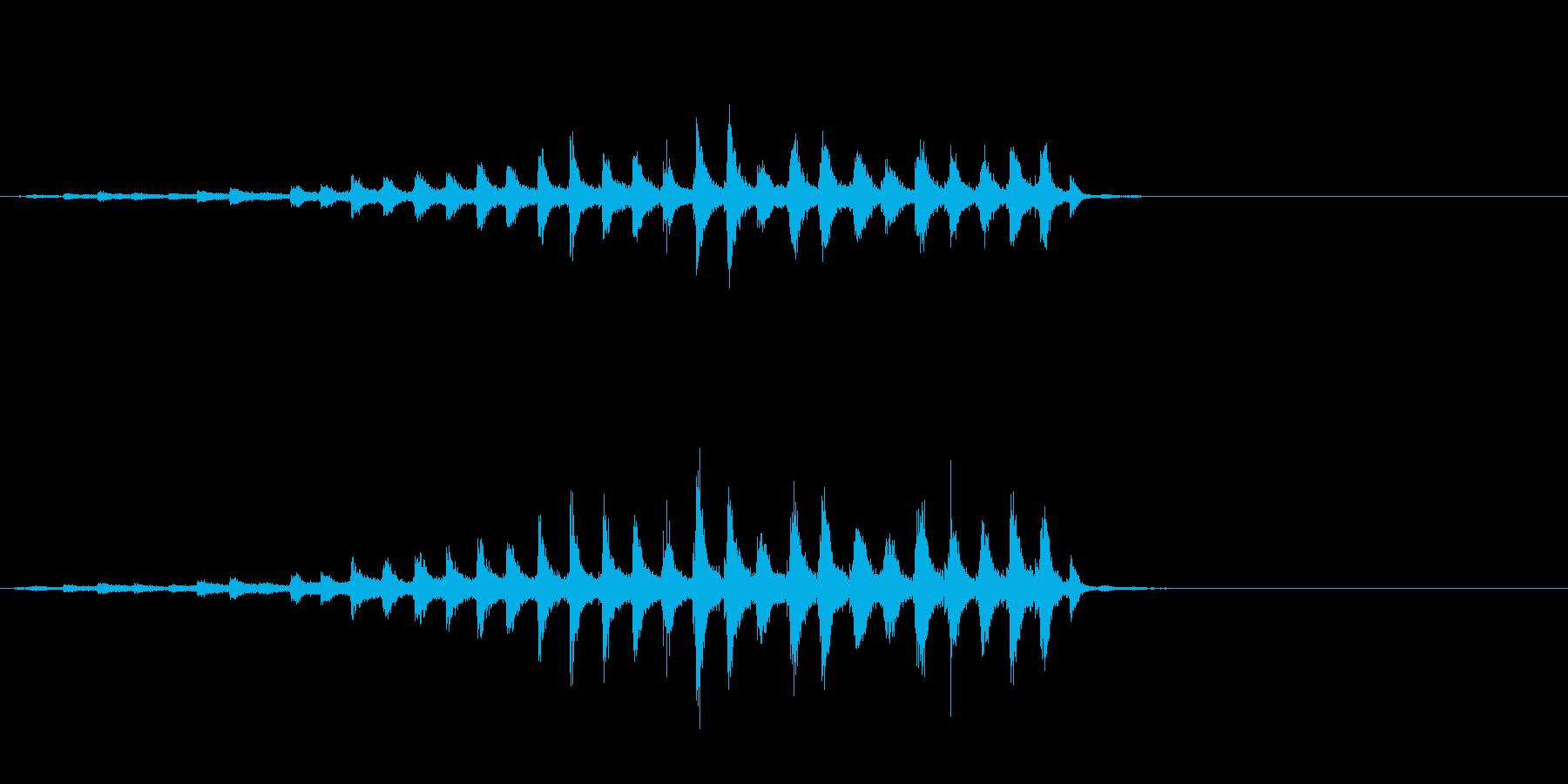 『チャッパ』和製シンバルのフレーズ1FXの再生済みの波形