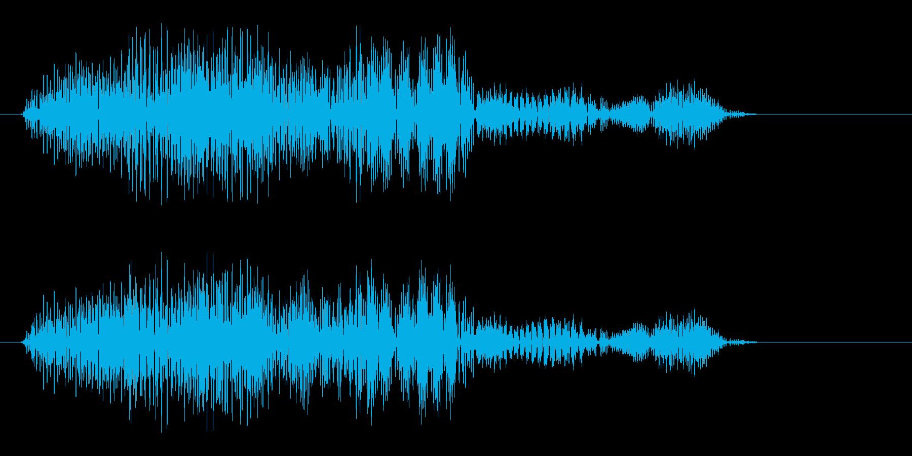 ヒュオーン(吸い込まれるような決定音)の再生済みの波形