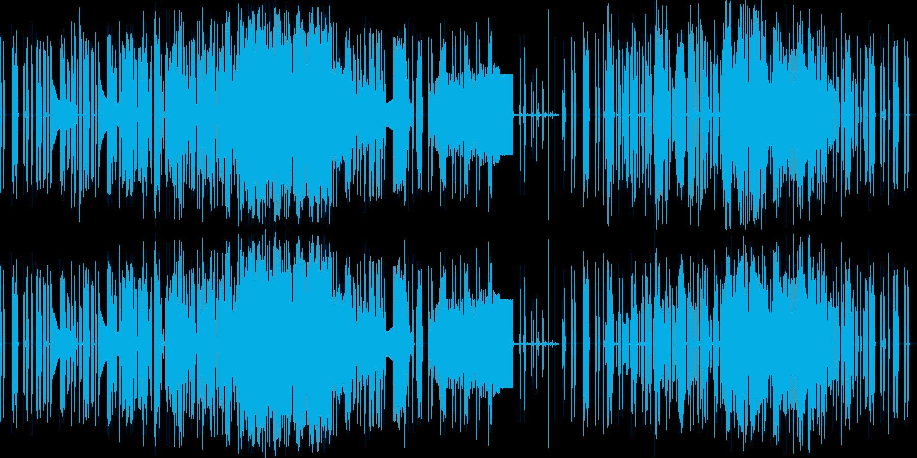ノイズ作品です。YMOのインベーダーの…の再生済みの波形