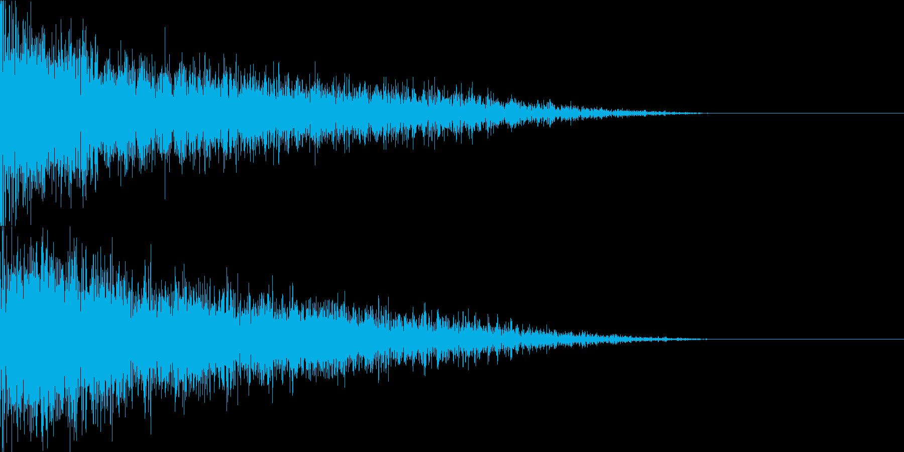 バキューン(銃撃音)の再生済みの波形