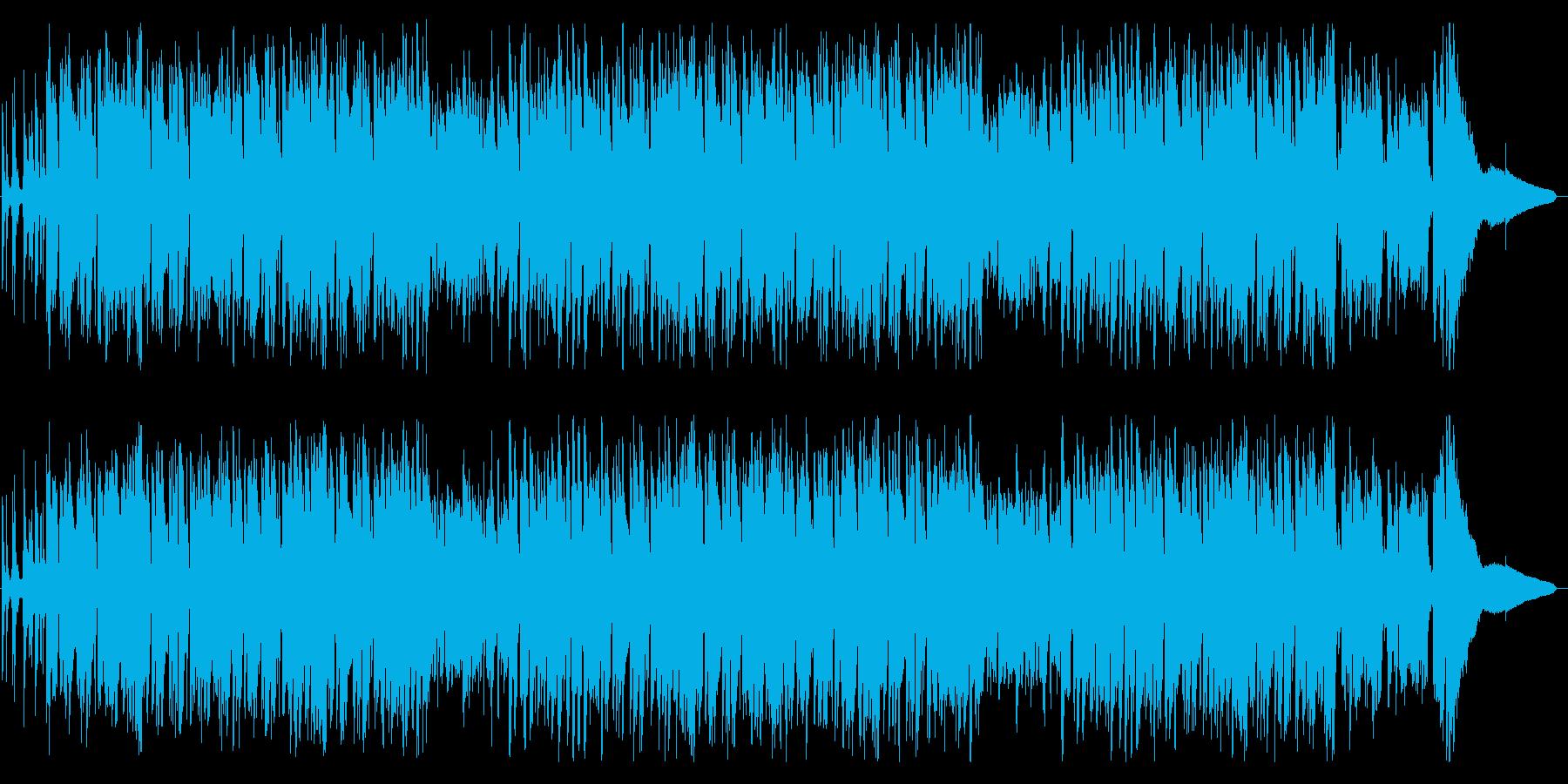 心弾むおしゃれなジャズピアノの再生済みの波形