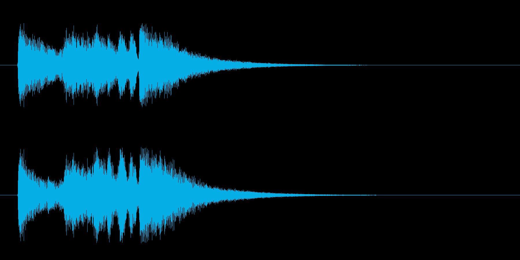 ジングル(ナイト・タイム・ジャズ風)の再生済みの波形
