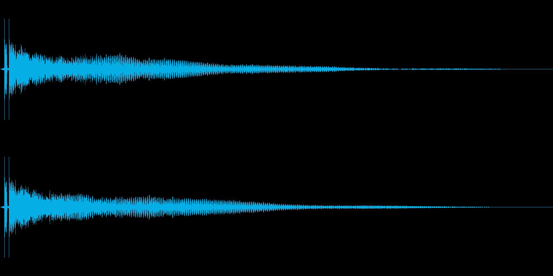 決定音。「シャーン」。ホラーゲームなど。の再生済みの波形