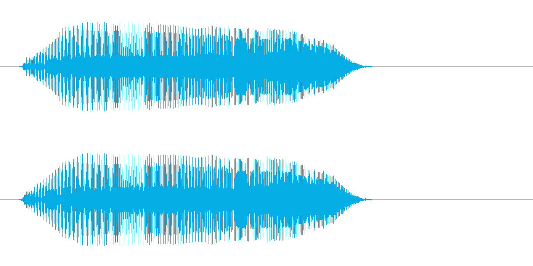 ピュン(高音のキャンセル音)の再生済みの波形