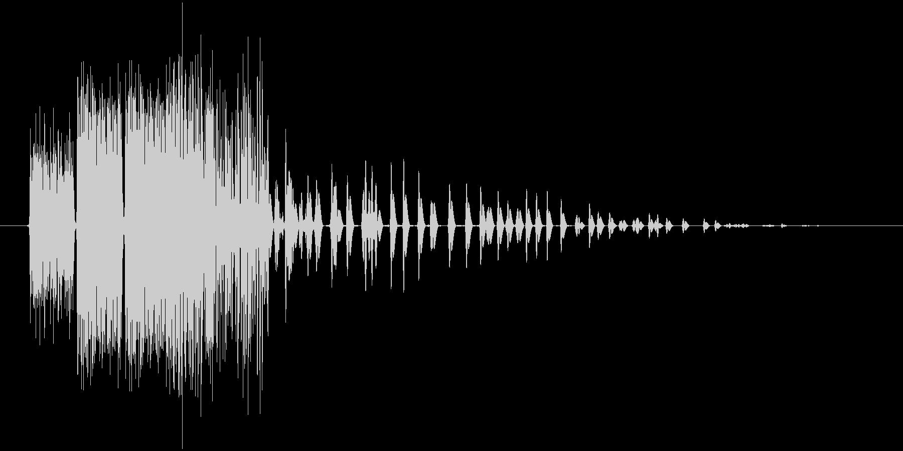 火の玉を連続で投げたような効果音ですの未再生の波形
