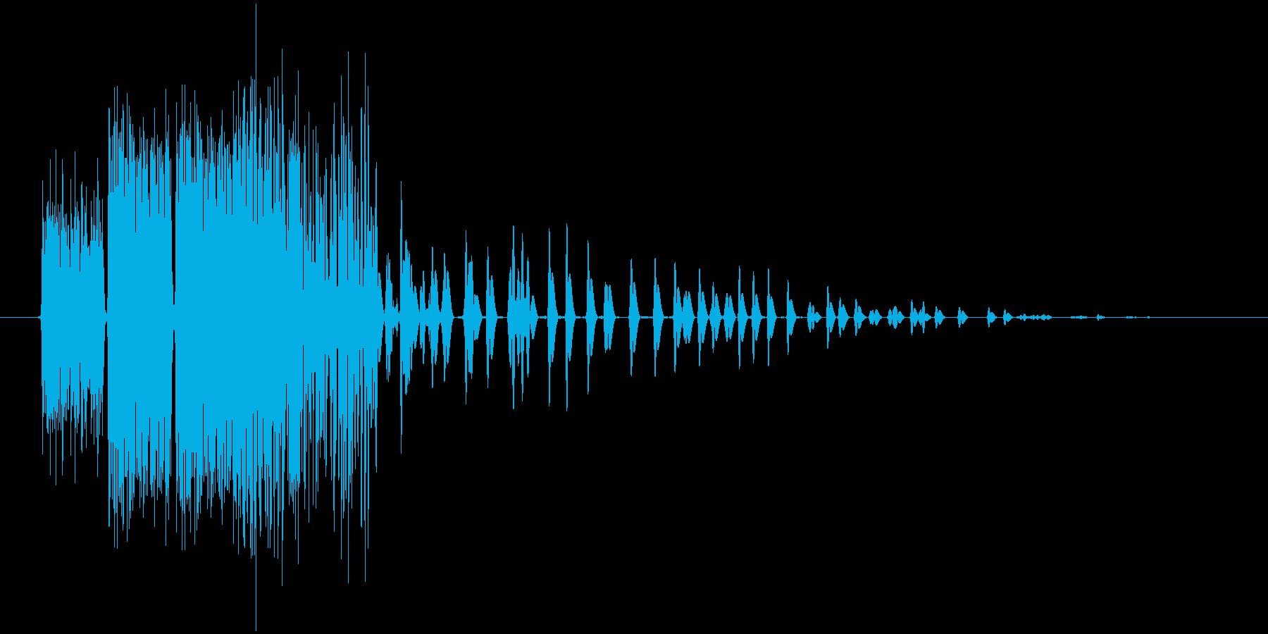 火の玉を連続で投げたような効果音ですの再生済みの波形