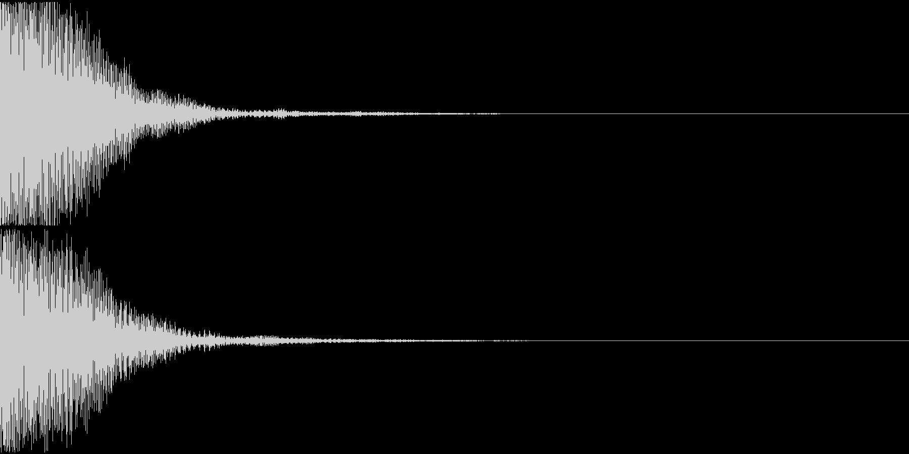 キャンセル音01(トゥン)の未再生の波形