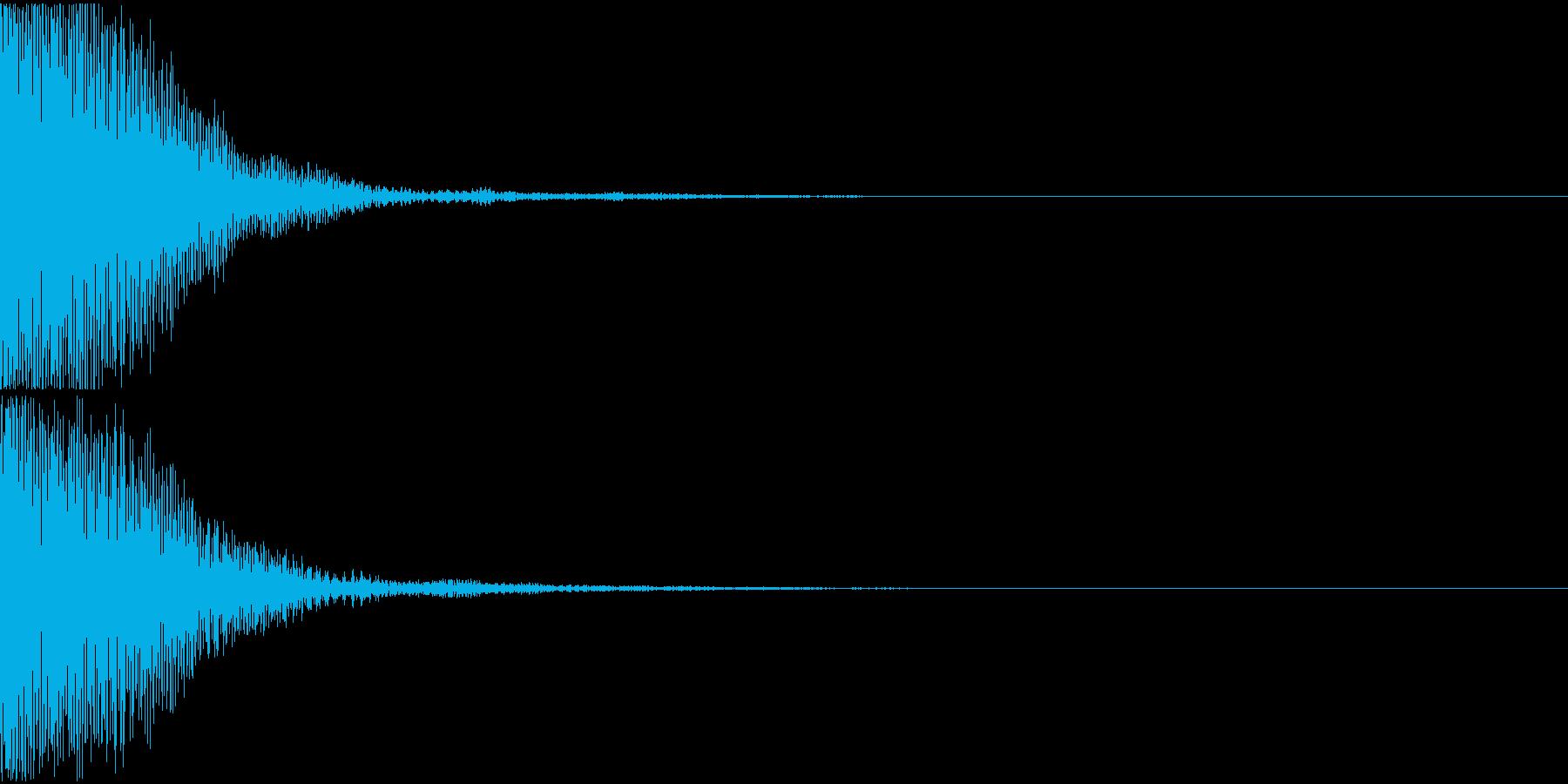 キャンセル音01(トゥン)の再生済みの波形
