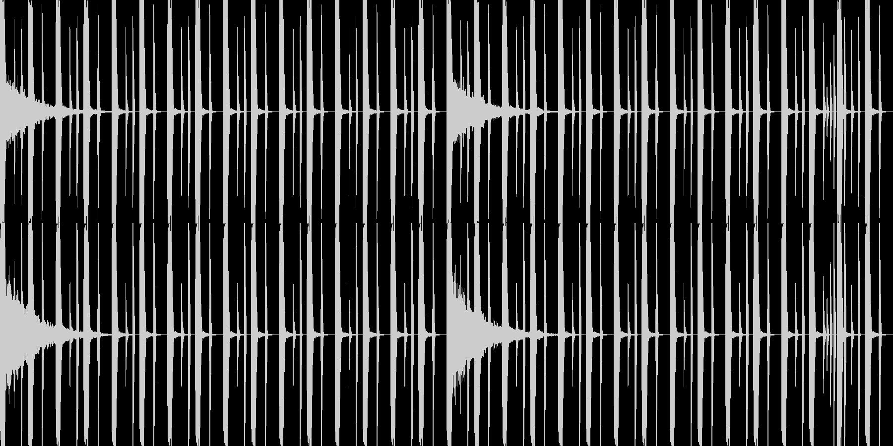 ドラムのみレゲトンビート8小節ループの未再生の波形