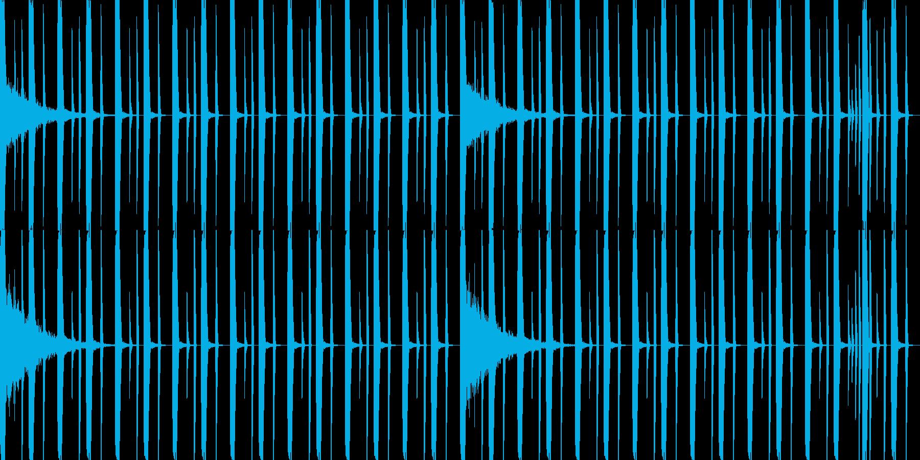ドラムのみレゲトンビート8小節ループの再生済みの波形