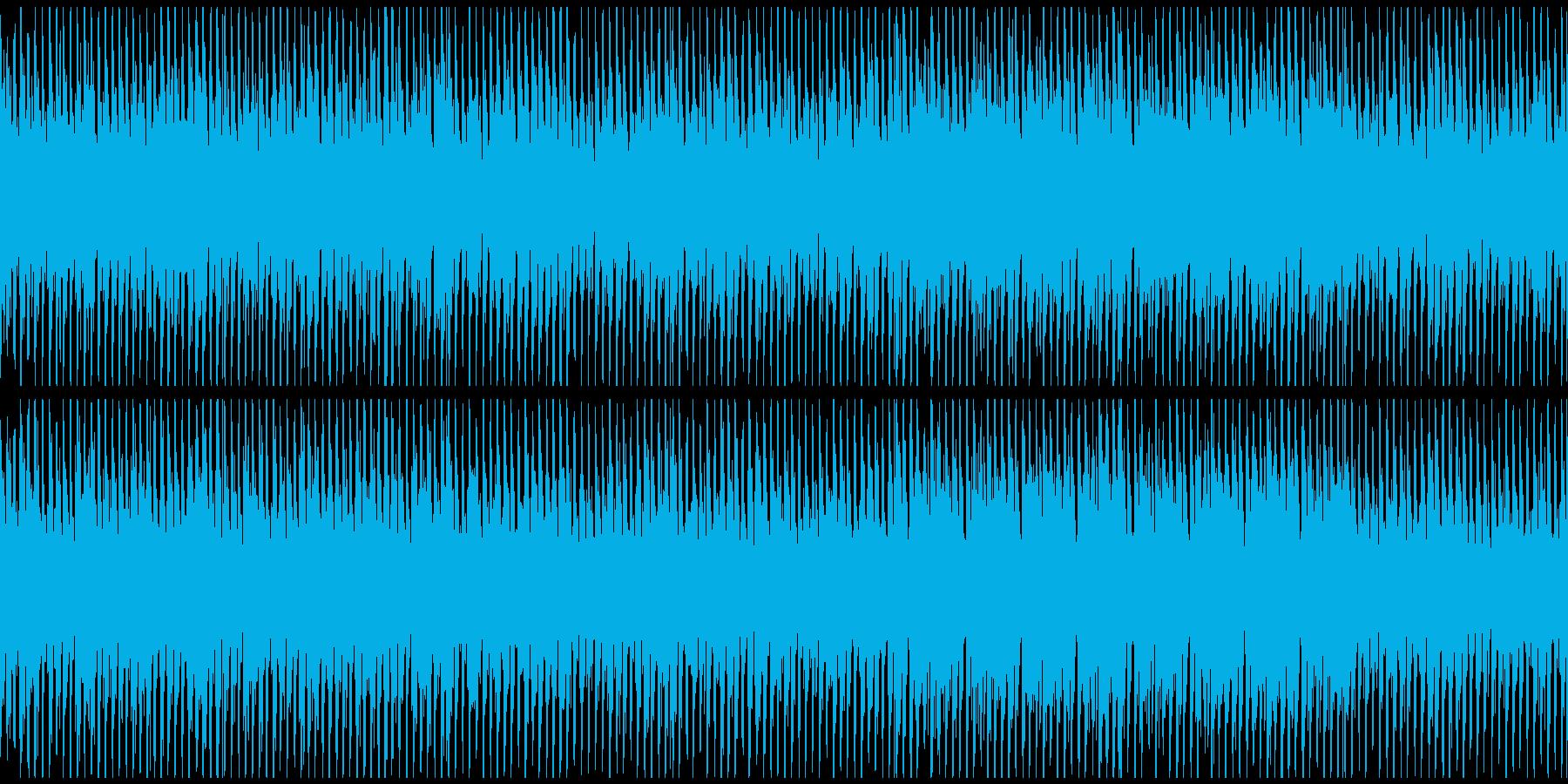 悲しみを背負っていそうなピアノの旋律の曲の再生済みの波形