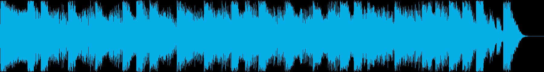 かわいいシンセのリズミカルな曲の再生済みの波形