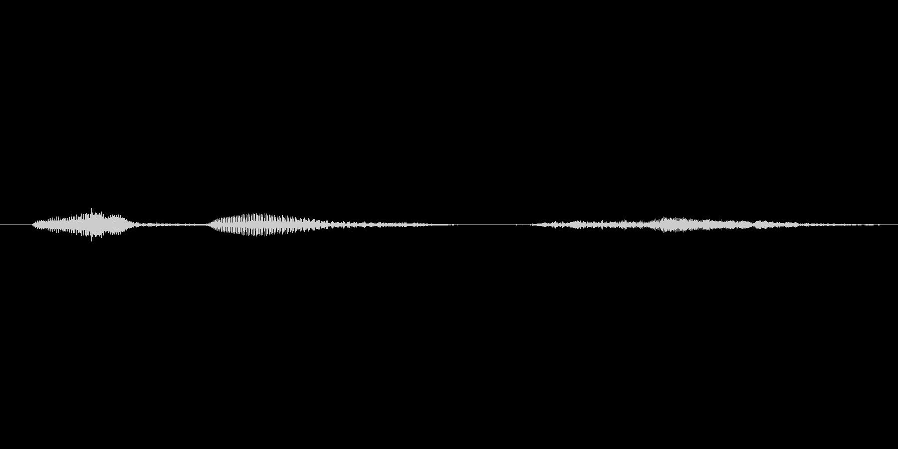 ううっ(Type-B)の未再生の波形